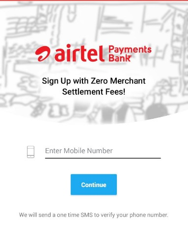 Airtel Merchant Account Registration