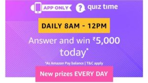 amazon quiz answers today 11th november