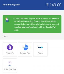 my jio app offer today