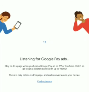 what is google pay on air offer how to listen