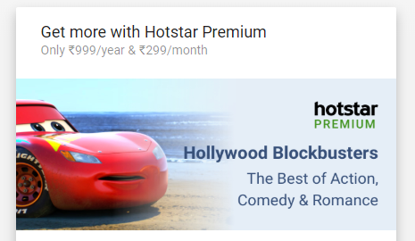 Hotstar Premium Plan India