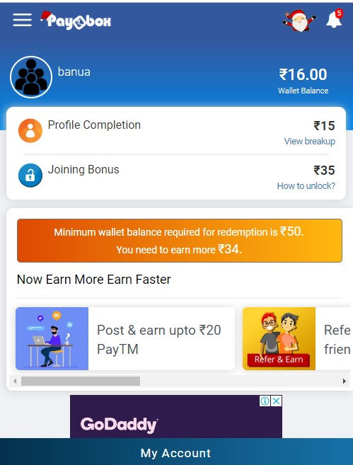 Withdraw Paybox Wallet Money to Paytm