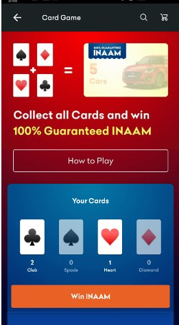 Collect All Cards to Win Guranteed INAAM
