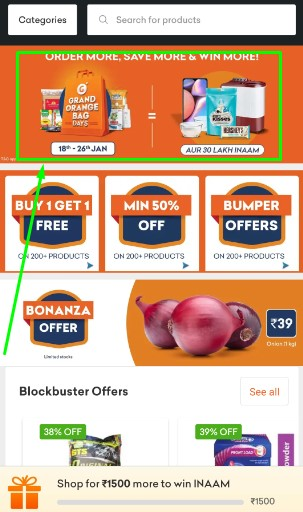 Grofers Card Game Offer