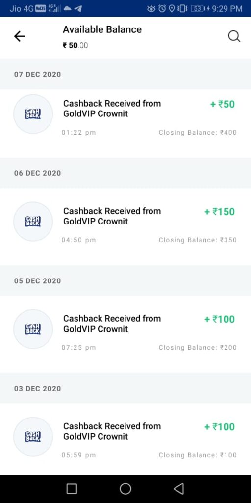 Crownit Payment Proof