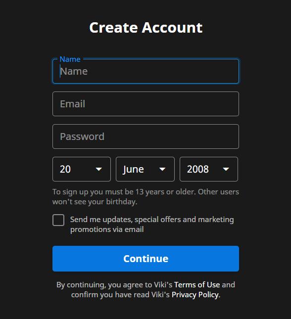 viki rakuten online signup