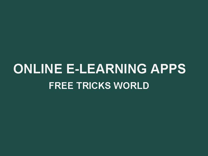 9 best online learning app